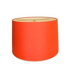 Orange Round Hardback Lamp Shade
