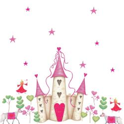 RoomMates Princess Castle Peel and Stick Wall Decal - Thumbnail 2
