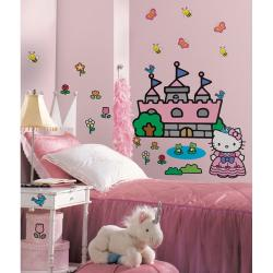 RoomMates Hello Kitty Princess Castle Giant Wall Decal