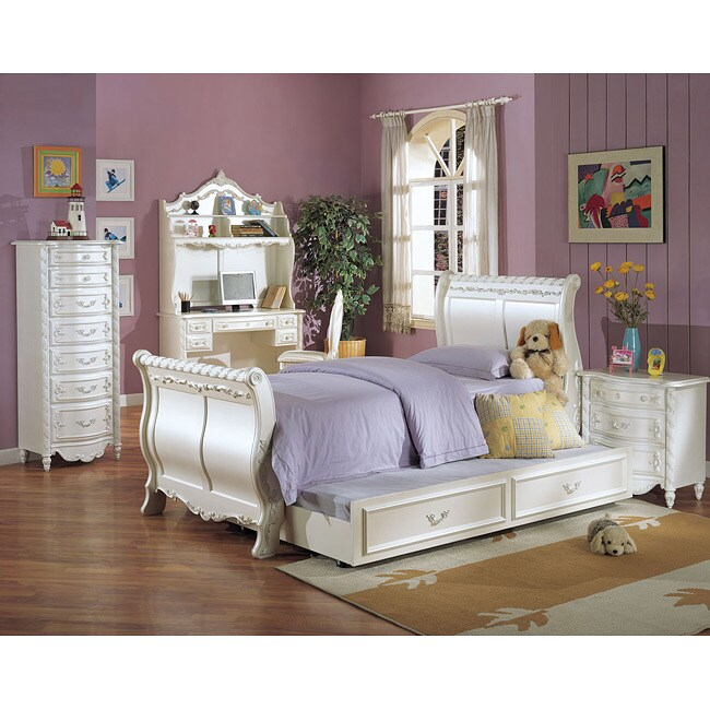 Pearl Collection Twin Sleigh Bed Free Shipping Today