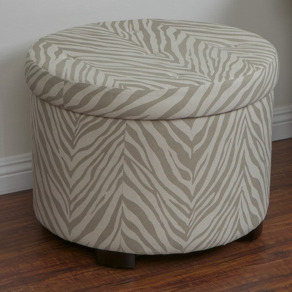 Cordova Zebra Shoe Storage Ottoman by Christopher Knight Home