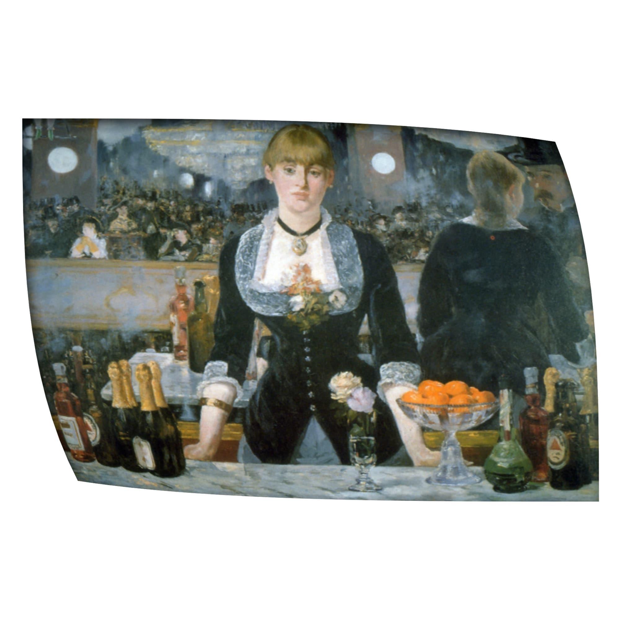Manet 'Folies Bergere' Flat Canvas Art