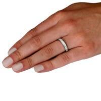 14 karat White Gold 3/4ct TDW Channel Set Round Diamond Ring