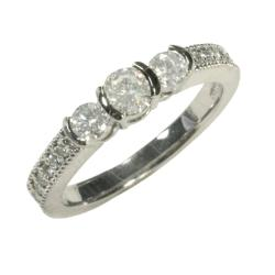 14k White Gold 5/8ct TDW Diamond Ring (G, SI1)