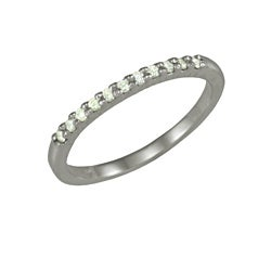 14k White Gold 1/7ct TDW Diamond Ring (G, SI1)