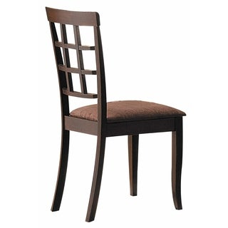 ACME Cardiff Espresso Dining Chair (Set of 2)