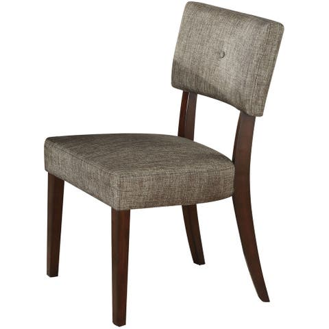 Drake Grey Fabric-upholstered Espresso Dining Chairs (Set of 2)