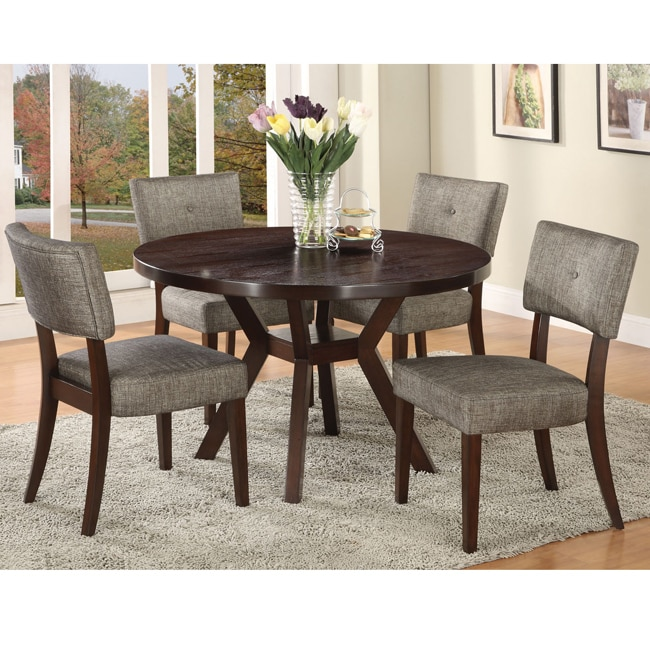 Drake Espresso Finish Dining Chair (Set of 2)
