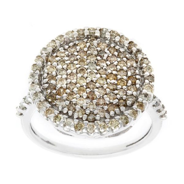 10k White Gold 1 1/4ct TDW Brown Diamond Fashion Ring