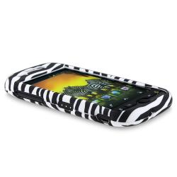 Black/ White Zebra Case/ LCD Protector/ Car Charger for HTC Mytouch 4G