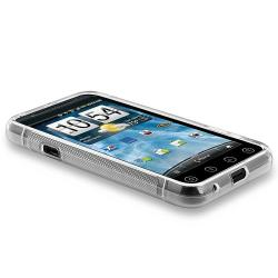 Frost White S TPU Case/ LCD Protectors/ Car Charger for HTC EVO 3D - Thumbnail 2