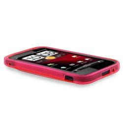 INSTEN Hot Pink TPU Phone Case Cover/ LCD Protector for HTC Rezound/ Vigor 4G