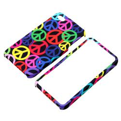 Black Rainbow Peace Sign Case/ Headset Dust Cap for Apple iPhone 4/ 4S - Thumbnail 1