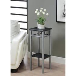 Black/ Silver Metal Plant Stand