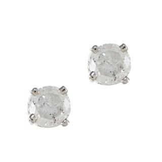 14K White Gold 1/8ct TDW Round Diamond Stud Earrings (H-I, I2)