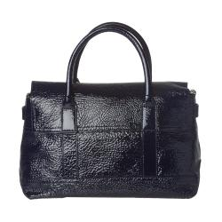 Mulberry 'Holiday' Small Navy Patent Leather Satchel - Thumbnail 2