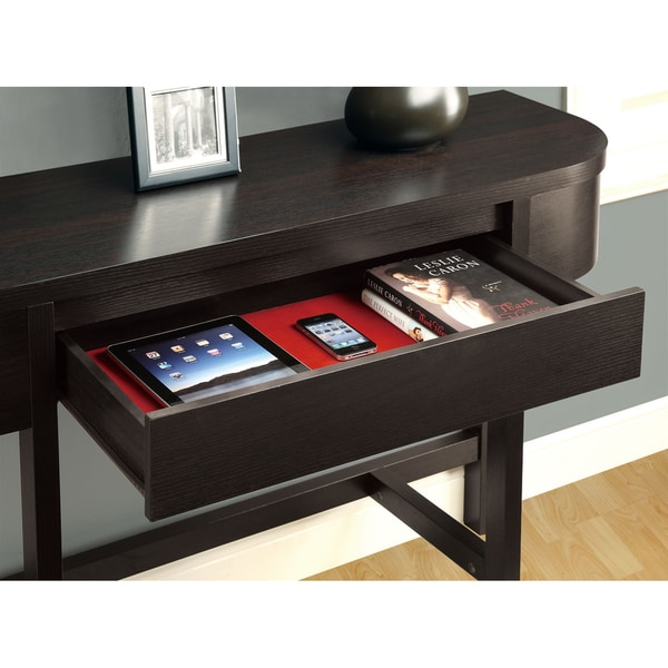 Cappuccino 48 Inch Accent Console Table   Free Shipping Today    Overstock.com   14344488