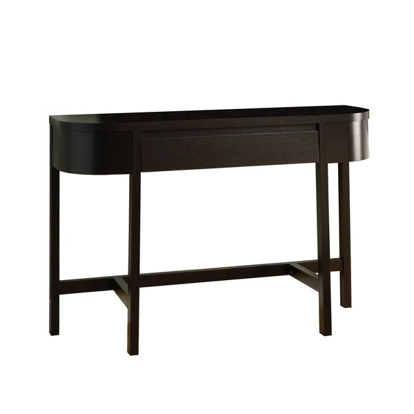 shop cappuccino 48 inch accent console table free shipping today overstock 6811421. Black Bedroom Furniture Sets. Home Design Ideas