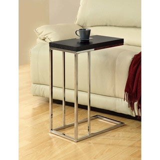 Porch & Den SiuslawCompact Cappuccino/ Chrome Metal Accent Table