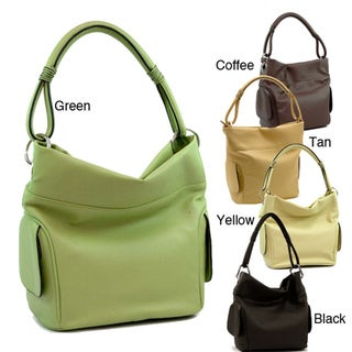 Dasein Tall Faux Leather Hobo Bag
