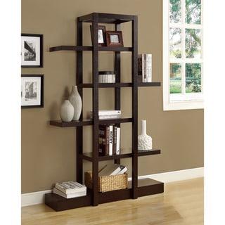 Cappuccino 71-inch Open Display Shelf