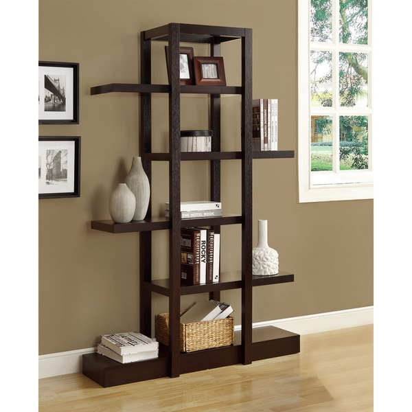 26 Interesting Living Room Décor Ideas Definitive Guide: Shop Cappuccino 71-inch Open Display Shelf