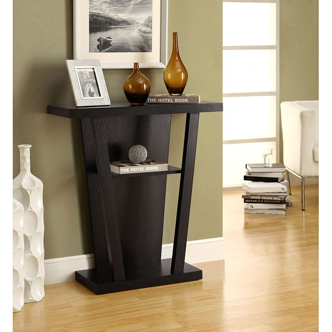 Cappuccino 32 inch Console Accent Table Free Shipping