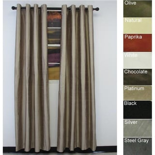 Brielle Home Dupioni Pure Silk and Lined Grommet Curtain Panel