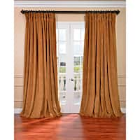 Exclusive Fabrics Amber Gold Velvet Blackout Extra Wide Curtain Panel (Single)