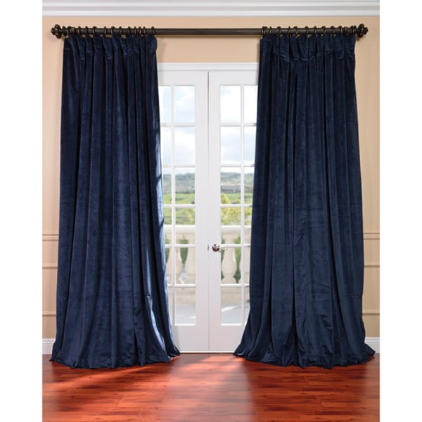 Curtains Ideas blue velvet curtains : Navy Blue Velvet Blackout Curtains - Best Curtains 2017