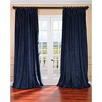 Exclusive Fabrics Midnight Blue Velvet Extra-wide Blackout Curtain Panel