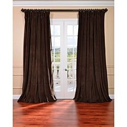Exclusive Fabrics Java Velvet Blackout Extra Wide Curtain Panel