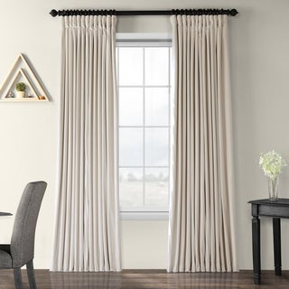 Link to Exclusive Fabrics Ivory Velvet Blackout Extra Wide Curtain Panel Similar Items in Blackout Curtains