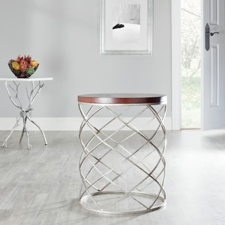 """Link to Safavieh Hidden Treasures Wood Top Silver Accent Table - 17"""" x 17"""" x 20.2"""" Similar Items in Living Room Furniture"""
