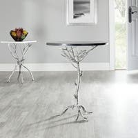 Safavieh Hidden Treasures Black Granite Silver Accent Table