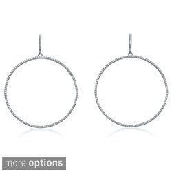 Collette Z Sterling Silver and Cubic Zirconia Large Round Outlined Earrings