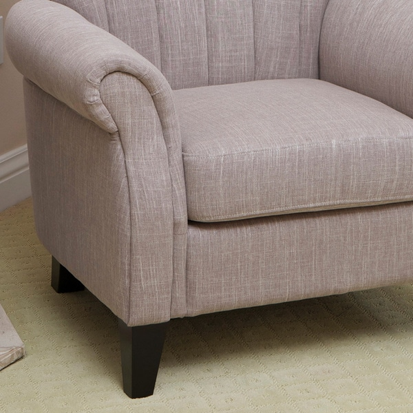 Waldorf Channel Tufted Light Mocha Fabric Club Chair By Christopher Knight  Home   Free Shipping Today   Overstock.com   14344909