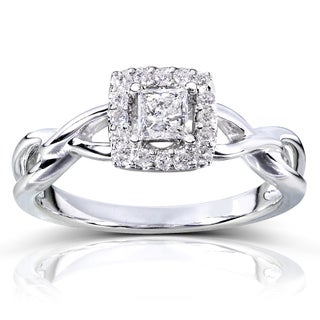 Annello by Kobelli 14k Gold 1/3ct TDW Diamond Halo Engagement Ring (More options available)