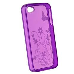 Clear/ Blue/ Purple/ Orange/ Green TPU Cases for Apple iPhone 4/ 4S (Set of 5) - Thumbnail 1