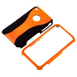 Orange/ Black Cup Shape Case/ LCD Protector for Apple iPhone 3G/ 3GS - Thumbnail 1