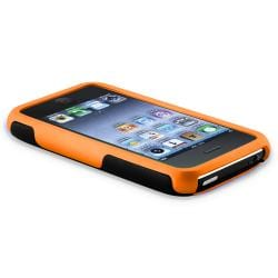 Orange/ Black Cup Shape Case/ LCD Protector for Apple iPhone 3G/ 3GS - Thumbnail 2