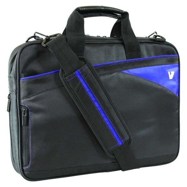 """V7 Edge Carrying Case for 14.1"""" Notebook, Ultrabook, MacBook Air - Bl"""