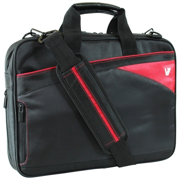 "V7 13.3"" Edge Ultra Slim Laptop Bag with Red Trim"