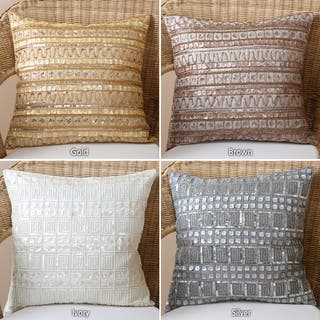 Aurora Home Beaded Mother of Pearl/ Sequin Pillow Pair (Set of 2)|https://ak1.ostkcdn.com/images/products/6813408/6813408/Beaded-Mother-of-Pearl-Sequin-Pillow-Pair-Set-of-2-P14346076.jpeg?impolicy=medium