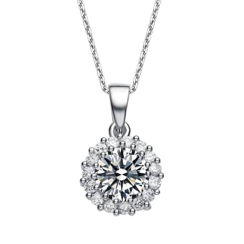 Collette Z Sterling Silver and Round-cut Cubic Zirconia Necklace