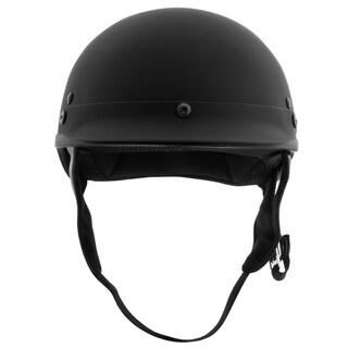 Fuel Helmets Flat Black Half Helmet