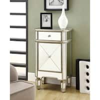 Mirrored 1-drawer Accent Cabinet