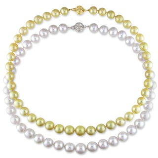 Miadora Signature Collection Graduated South Sea Pearl 18-inch Necklace (9-11 mm) (2 options available)