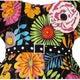 AnnLoren Girls' Wild Flowers Dots/ Zebra 2-piece Outfit - Thumbnail 1
