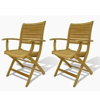 Havenside Home Tottenville Teak Armchairs (Set of 2)